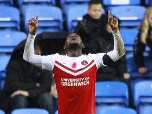 Looking up: Vetokele's winner last year moved Charlton up to 8th